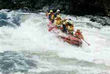 Whitewater rafters at Lochsa Falls